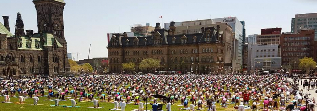 Yoga on Parliament Hill – Get Centered at Centre Block on Wednesdays in the Summer