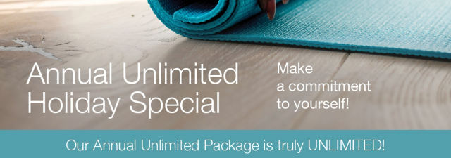 Annual Unlimited Special! Make a commitment to YOURSELF!