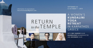 Return to the Temple – A Women's Kundalini Yoga Retreat
