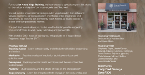 Hatha Yoga Teacher Training Fall Program