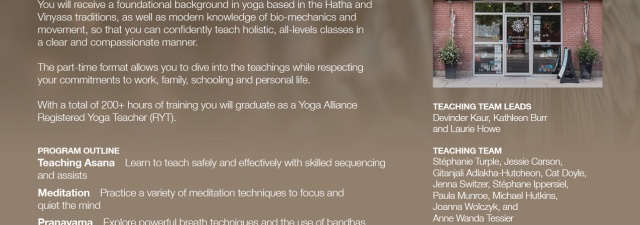 Ottawa Yoga Teacher Training