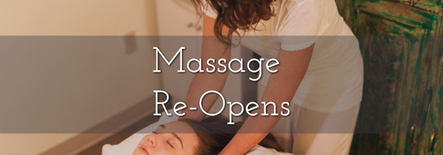 Re-Opening of Massage Therapy