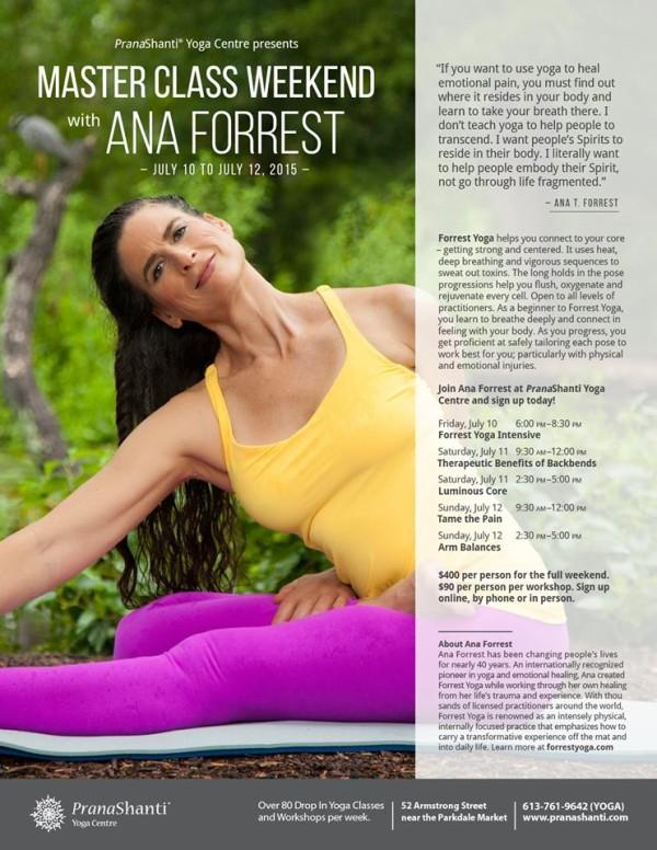 Forrest Yoga - July 2015