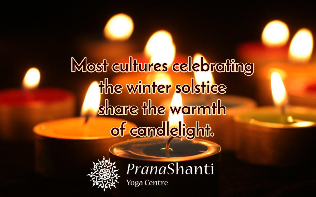 Most cultures celebrating the winter solstice share the warmth of candlelight.