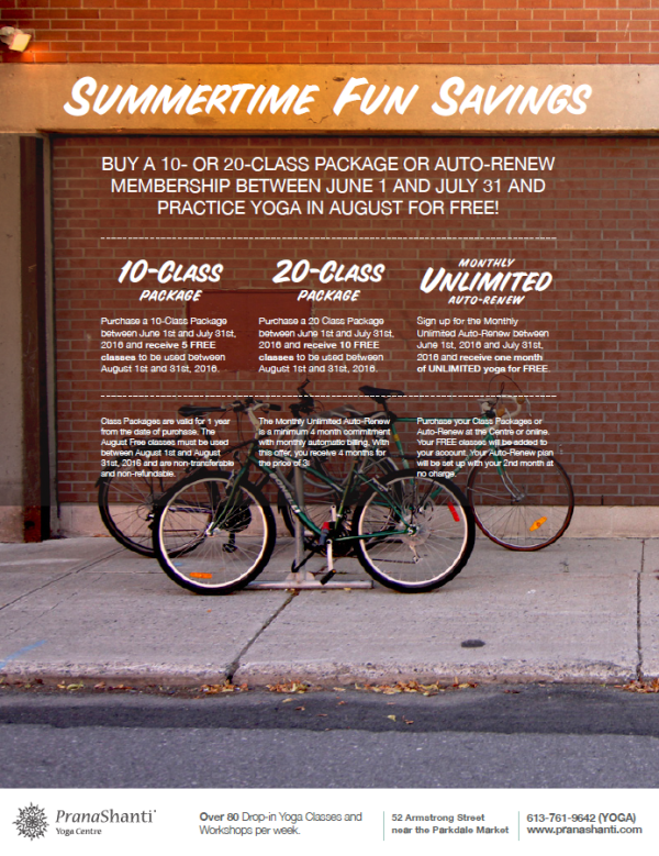 Summertime Fun Savings 2016