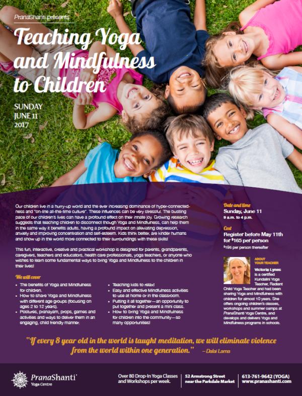 Teaching Yoga and Mindfulness to Kids 2017