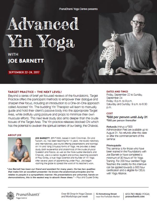 Yin Advanced Jore Barnett