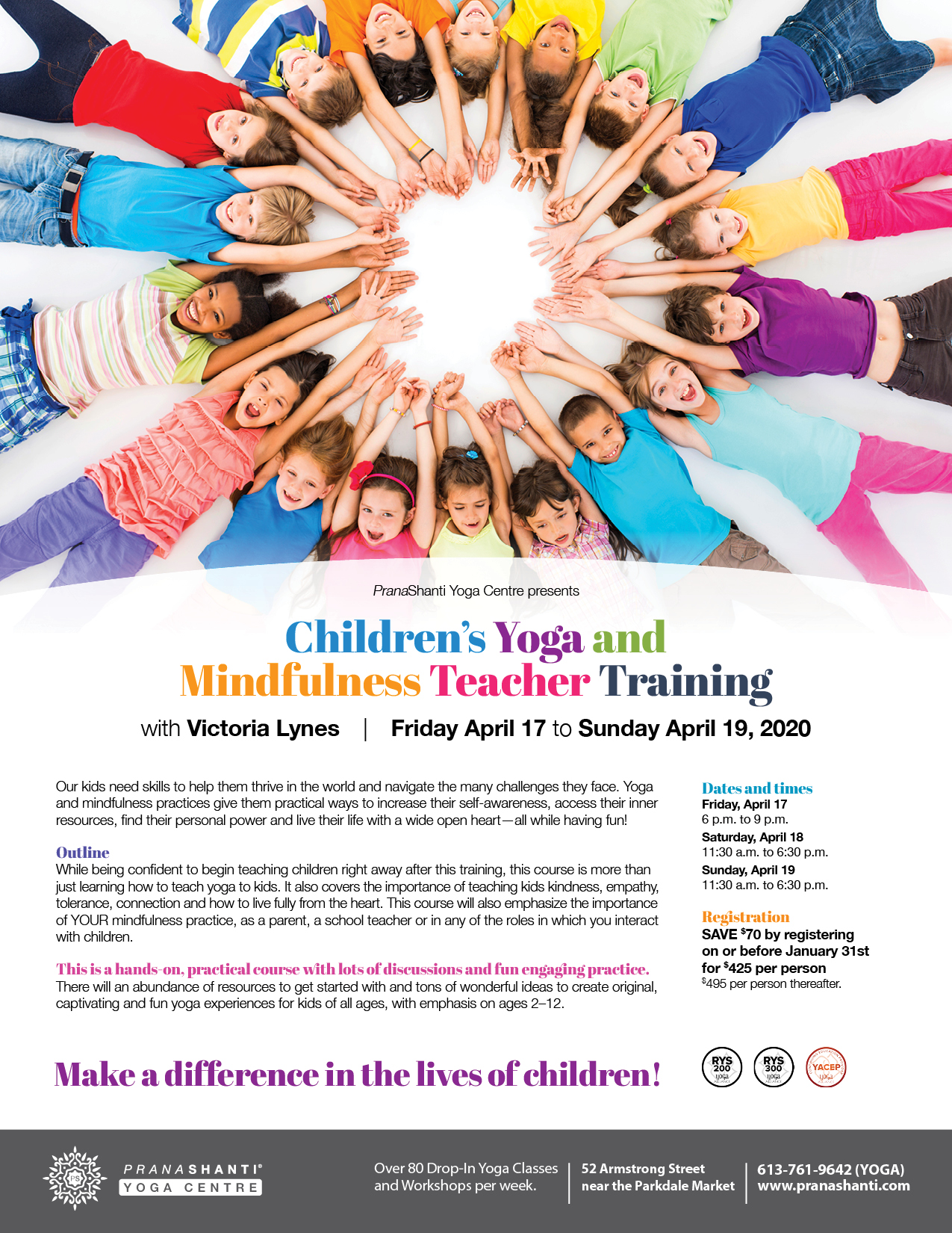 Children's Yoga and Mindfulness Teacher Training - PranaShanti Yoga