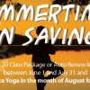 Summertime Fun Savings – Practice Yoga for FREE in August!