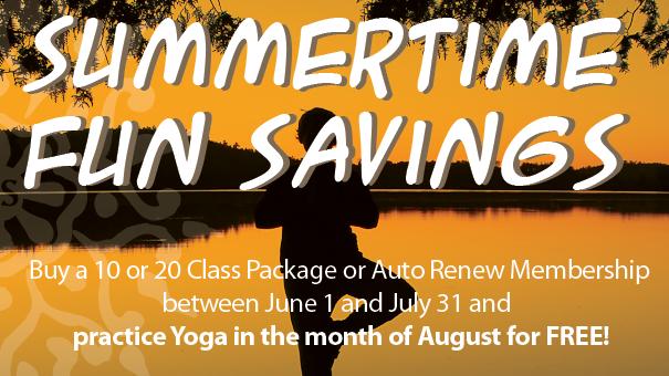 Summertime Fun Savings – Practice Yoga for FREE in August!