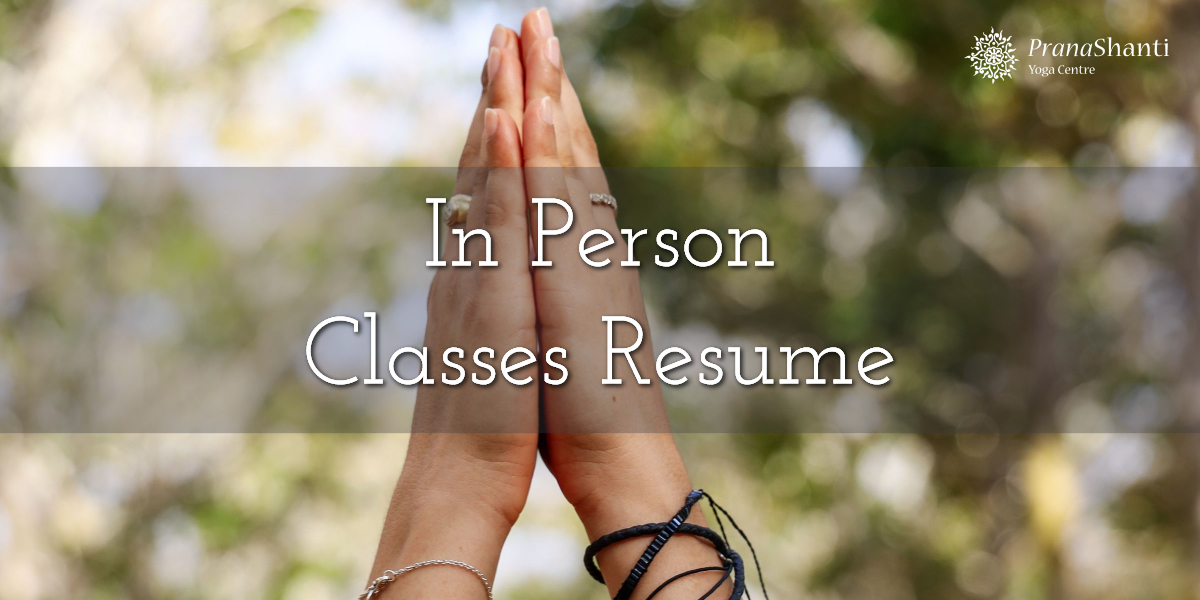 In Person Classes Resume Saturday, November 7, 2020