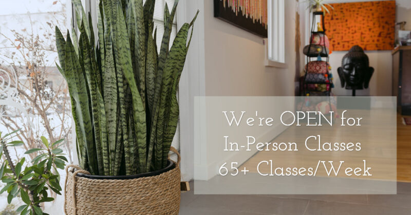 Open for In-Person Classes